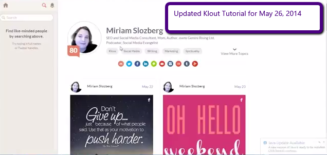 2014 05 27 1241 Updated Klout Tutorial